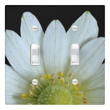 Cute Spring Fresh White Yellow Windflower Floral Light Switch Plates