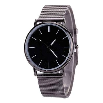 Woman Watch  Simple Fashion  Metal Mesh  Watch   Stainless Steel  Lovers   Band Fashion Quartz Wristwatches  Reloj Mujer  18FEB9