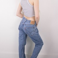Vintage (MEDIUM) Levis 550 High Waisted Denim Jeans