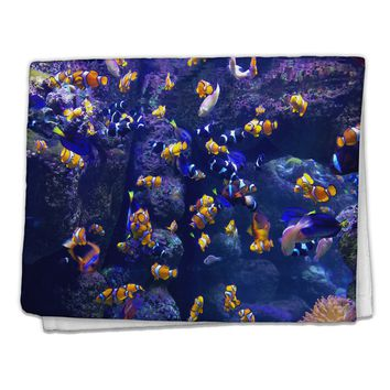"Underwater Ocean View Clownfish 11""x18"" Dish Fingertip Towel All Over Print"