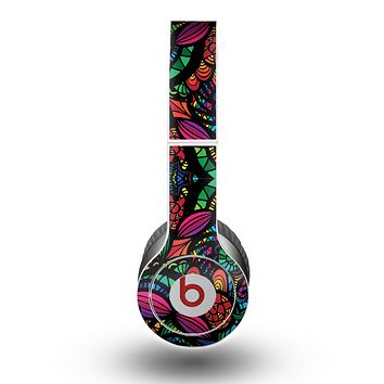 The Neon Colored Vector Seamless Pattern Skin for the Beats by Dre Original Solo-Solo HD Headphones