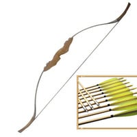 45/50 Lb Traditional Takedown Recurve Bow and Arrows Set Outdoor Archery Hunting Shooting