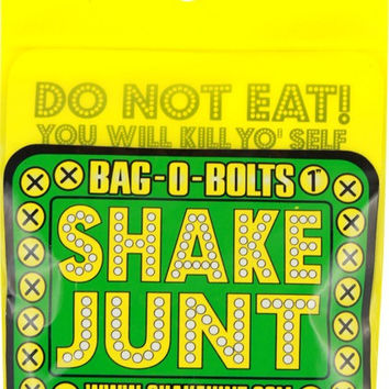 "Shake Junt Bag O Bolts All Green & Yellow 1"" Phillips 1 Set"