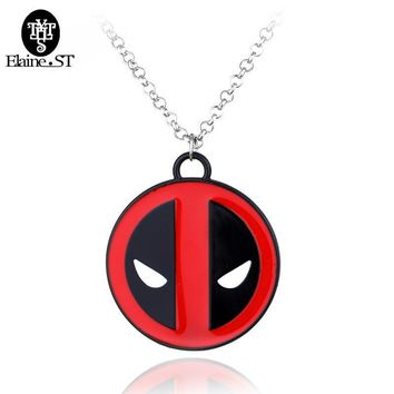 Deadpool Dead pool Taco    Necklace Personality Red and Black Classic Pendant Vintage Fashion Round Dome Necklaces Jewelry  AT_70_6