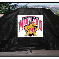 "NCAA University Of Maryland 59"" Vinyl Gas Grill Cover"