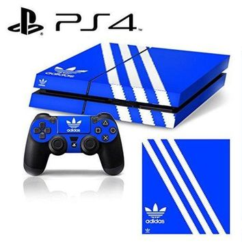 CREYON Ci-Yu-Online VINYL SKIN [PS4] - ShoeBox #1 Adidas Originals Logo Shoe Box - Whole Body STICKER DECAL COVER for PS4 Playstation 4 System Console and Controllers