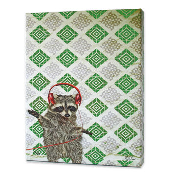 Rufus the Raccoon Print