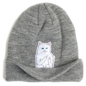 Attitude Cat Wool Knit Beanie