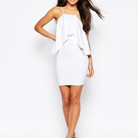 ASOS Scuba Ruffle Mini Dress at asos.com
