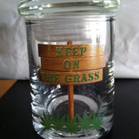Glass smell proof stash jar