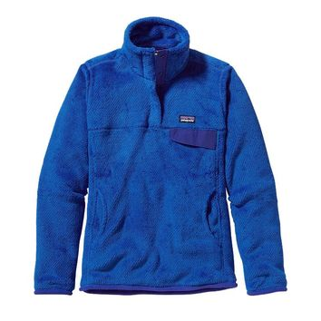 Patagonia Women's Re-Tool Snap-T® Fleece Pullover | Andes Blue - Cobalt Blue X-Dye