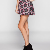 FULL TILT Medallion Print Skater Skirt 240542957 | Short Skirts
