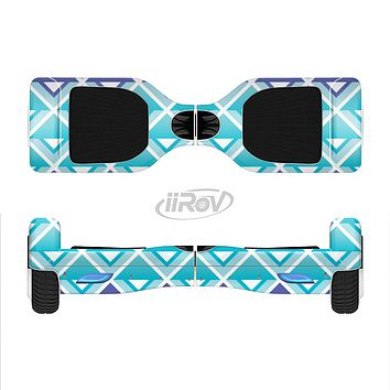 The Triangular Teal & Purple Abstract Cubes Full-Body Skin Set for the Smart Drifting SuperCharged iiRov HoverBoard