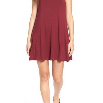 Socialite High Neck Knit Swing Dress | Nordstrom