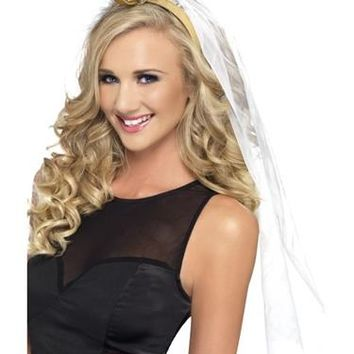Bachelorette Veil Big Ring Headband