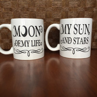 Moon of My Life, My Sun and Stars mug set