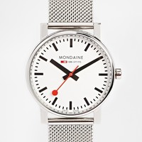 Mondaine Quartz Evo Mesh Strap Watch