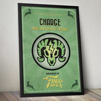 Bioshock Infinite Inspired Poster - Charge Vigor