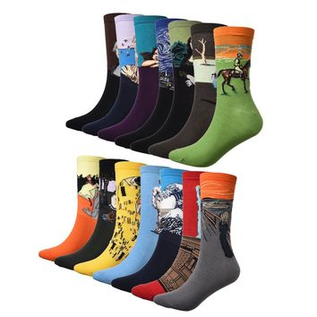 TOP SELLING Mens Socks The Art Abstract Painting Pattern Series Of Cotton Socks