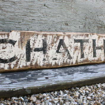 Chatham Rustic Sign Cape Cod Ma NY 3 Ft Wood Beach Sign