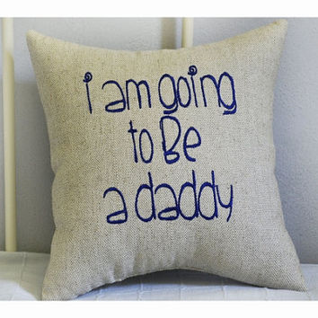 Expecting a baby, expecting parents pillow, expecting parents gift , expecting gift pillow, expecting mom and dad gift, baby pillow