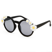 Full Tilt Daisies Sunglasses Black One Size For Women 25374310001