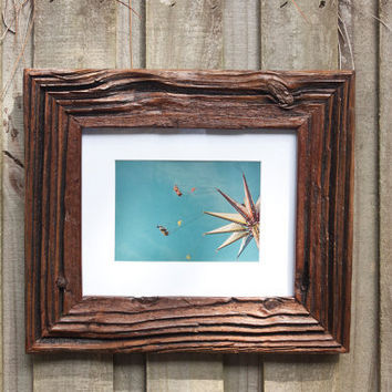 8x10 Very Rustic Reclaimed Weathered Drift Wood Picture Frame
