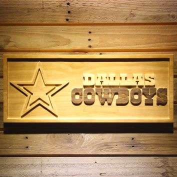 Dallas Cowboys 3D Logo Wooden Sign