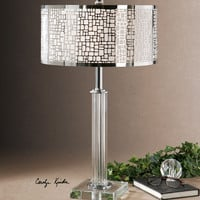 Lucius Crystal Column Table Lamp