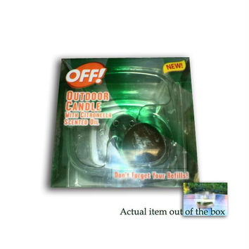 "6 Bug Repellent Sets -  "" Off! ""  Candles And Citronella Scented Oil"