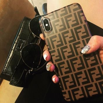 FENDI Popular Women Men Personality Case For iPhone 6 6s 6plus 6s-plus 7 7plus iphone 8 iphone X XS Max XR