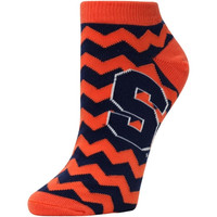 Syracuse Orange Women's Chevron Stripes Ankle Socks – Navy Blue