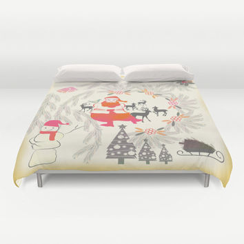 Christmas Duvet Cover, festive bedding, Christmas bedding, Xmas duvet cover, Bedding, Home Interior Decoration