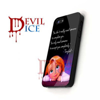 Little Tangle Quote - iPhone 4/4s/5 Case - Samsung Galaxy S3/S4 Case - Black or White