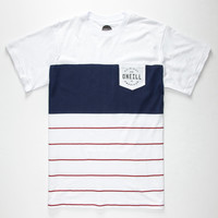 O'neill Tailgate Mens Pocket Tee White/Blue  In Sizes