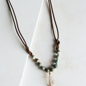 Lighthearted Necklace in Green
