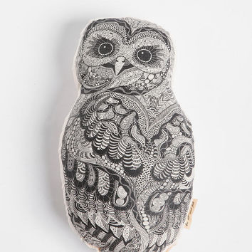 The Rise and Fall Baby Owl Pillow