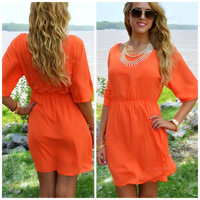 Loveland Orange Fit & Flare Dress