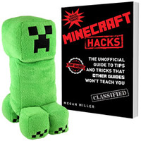 Minecraft Creeper Sound Plush And Hacks Book Set