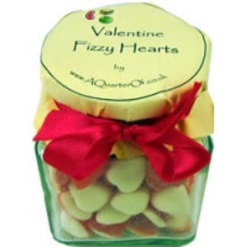 Glass Gift Jar - Valentine Fizzy Hearts | AQuarterOf
