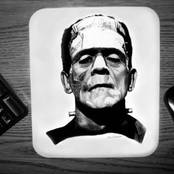 Frankensteins Monster Mouse pad by noirclassics on Etsy