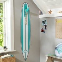 Pool Surfboard Wall Decal + Hook Fin