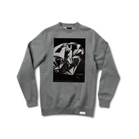 Diamond Cut Crewneck Sweatshirt in Heather