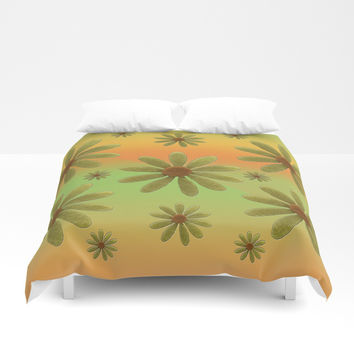 Brass Corollas Duvet Cover by Deluxephotos