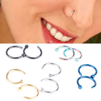 Medical Titanium Nose Hoop Nose Rings