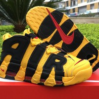 "Nike Air More Uptempo Black Yellow ""Bruce Lee"" 414962-700 US7-12"