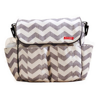 SKIP*HOP® Dash Messenger Diaper Bag in Chevron Grey