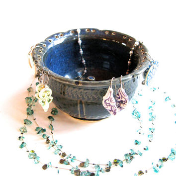 Denim Blue Jewelry Dish, Earring Holder, Ring Holder - Etsy Handmade