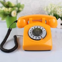 Retro Colorful Dial Telephone (Landline)
