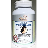 HAIR GROWTH AND VOLUME - 120 Capsules -With Biotin, Apple Extract, Millet Extract and Horsetail Extract.